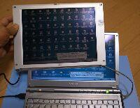 ノートパソコンの外付け端子へつなぐ